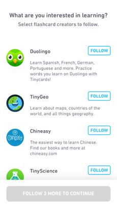 言語学習アプリDuolingoのほか、地理やサイエンス、自転車パーツなどさまざまなコースあり。